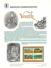 #2160-63 22c youth USPS Cat. #251 Commemorative Stamp Panel