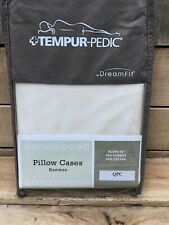 Tempurpedic Dreamfit Queen Ecru Bamboo Pillow Cases (td 39)