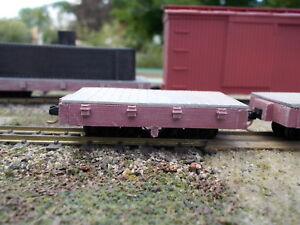 On18 7 1/2 Foot Flat Car Kit 2 Pack by Railway Recollections not On30