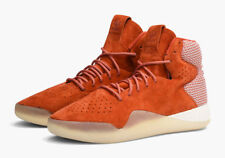 Men's adidas size 10.5 Tubular Instinct High Top Chili Orange Lace Up Shoes NEW