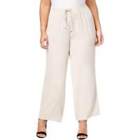 Calvin Klein Plus Size Wide-Leg Pants in Latte, Size 2X, Retail $99.50