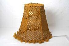 alter Lampenschirm für Stehlampe Makramee Handarbeit 60er 70er Jahre