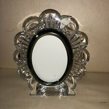 WATERFORD Clear Crystal Oval Portrait Photograph Frame Boxed