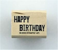 HAPPY BIRTHDAY sentiment Stampin' Up! rubber stamp