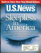 2000 U.S. News & World Report Magazine: Sleepless in America/Bush vs Gore