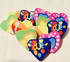 12 X Heart Erasers Rubbers Girl Loot bag Party Bag Fillers