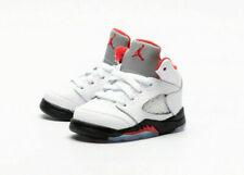 Air Jordan 5 Retro (TD) Toddler Size 10c Fire Red True White 440890 102 New