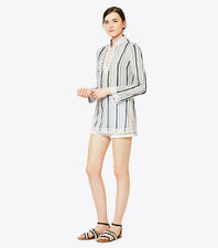Tory Burch Tory Tunic Villa Striped Classic 2 XS NWT Cover Up Resort 2017