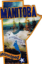 """WINNIPEG MANITOBA"" Iron On Printed Patch Capital City Canada Canadian"