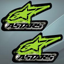2 Autocollants Sticker Auto Motocross Alpinestars Velo Voiture Course Aufkleber