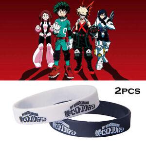 2pcs/set Anime My Boku No Hero Academia Cosplay Silicon Wristband Bracelet Gift