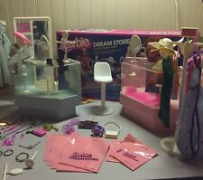 Vtg 1982 Barbie Dream Store Fashion Department Play Set Lot Counters Display Box