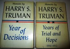 MEMOIRS BY HARRY S. TRUMAN TWO VOLUMES WITH DUST JACKETS VERY GOOD