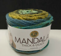 Lion Brand Yarn Mandala Thick & Quick Begonia 528-214 Super Bulky, 87 Yards