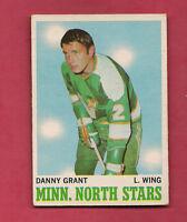 1970-71 OPC  # 47 NORTH STARS DANNY GRANT  CARD