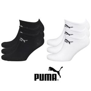 Puma Ankle Liner Socks 3 Pairs Mens Womens Crew Cotton Sports Socks Size UK 6-8