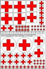 1/35 1/32 Red Cross Ambulance markings US & European Styles 1/700 1/350 ships