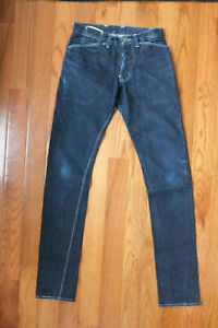 TENDER CO. 127 Slim Tapered Selvedge Denim Jeans Sz 1 Size 28 MADE IN ENGLAND
