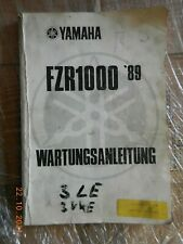 Wartungsanleitung Yamaha FZR1000,  Reparaturanleitung ,Werkstatthandbuch 1989
