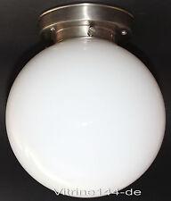 BAUHAUS DECKENLEUCHTE KUGEL Design 20er Jahre Ø 20 Halter silberfarben+Opalglas