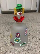 Collectible Murano Hand Blown Italian Art Glass Clown Bell Decoration
