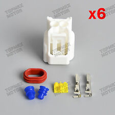 Set of 6 CBR GSXR Hayabusa Pencil Coil Connector Plug for Suzuki GSXR 1000/1100