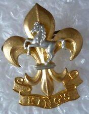 Badge- The Kings Regiment (Manchester & Liverpool) Badge- 2 LUG Bi-Metal
