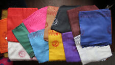 100% Cotton Multi-Color Lot of 13 Meditation Yoga Shawl Scarves Block Printed