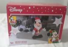 Gemmy 3.5 Ft Tall Mickey Mouse Santa Disney Airblown Inflatable Led Lights Up