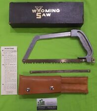 Wyoming Saw, Leather Carrying Case + Original Box & Instructions Hunting Camping