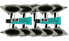 TYRE PUNCTURE REPAIR WIRED 6MM PLUG PATCH MUSHROOM CAR VAN QUAD TRIKE X10 + GLUE