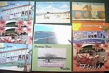 10 VINTAGE FLORIDA POST CARDS MELBOURNE FLAMINGOES PENSACOLA VERY GOOD CONDITION