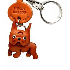 French Bulldog Handmade 3D Leather Dog Keychain *VANCA* Made in Japan #56728
