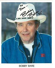 Bobby Bare autograph 8 x 10 publicity color photo signed