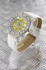 orologio donna bracciale in pelle Nele Fortados - molti strass -.design - A2412