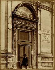 Photographie albuminée - Venise Sestiere di Dorsoduro - Personnage