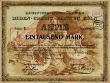 Rheinisch Westfälische Boden Credit Bank 1922 Köln Frankfurt Lone Star 1000 RM