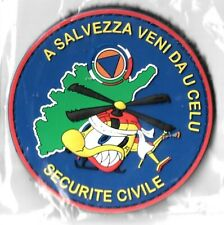 Ecusson PVC SECURITE CIVILE  CORSE A SALVEZA VENI DA U CELU