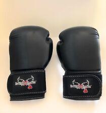 iloveKickboxingGloves - Black - 14 oz Century Label