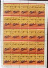1904 FORD 999 ARROW World Land Speed Record WLSR CAR 50-STAMP SHEET (1985 Nevis)