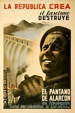 """La Republica Crea"" 1930s Spanish Civil War Poster - 16x24"