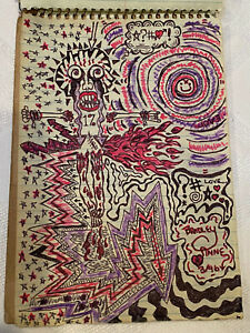 Gidget Gein Original Hand drawn 1% artwork and Poetry book & Poster. Circa 1996