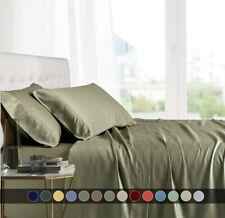 Split Top King Bed Sheet Set 100% Bamboo Viscose Head Split Super Soft Sheets
