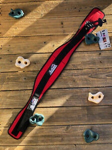 """Schiek Model 2006 6"""" Weight Lifting Belt Red Size L. Made in the USA!"""