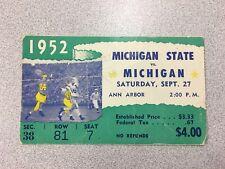 Michigan vs. Michigan State 1952 Football Ticket Stub- Big House-RARE