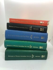 Dictionary of Western Australians 1829 - 1914 (Four hardcover volumes)
