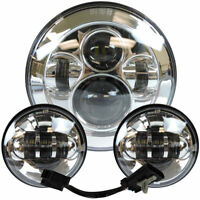 7 Inch Motorcycle LED Headlight with 4.5 Inch 30W Fog Light for Harley Road King
