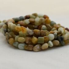 """15"""" Strand Natural Old Jade Pebble Nugget Beads - 5mm - 8mm"""