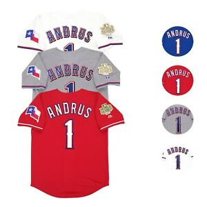 Elvis Andrus Texas Rangers 2011 World Series Men's Jersey (M-2XL)
