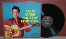 VINTAGE ELVIS SINGS COUNTRY FAVORITES VINYYL LP ALBUM RDA242D ~R1